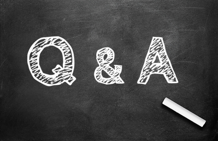 Chalk and Q&A write on chalkboard background