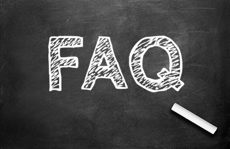 frequently asked question: Chalk and FAQ write on chalkboard background ( Frequently Asked Question )