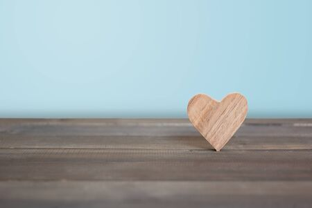 Wood Heart on wood table