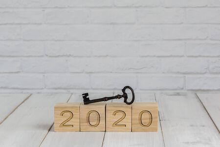 key on 2020 new year block ,  success concept