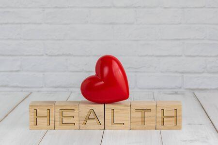 heart on health block ,  love concept