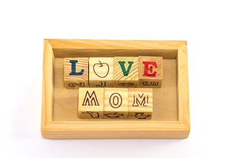 The idea picture of simple and easy wording for children say to mother photo