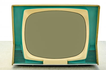 Isolated picture of old television in retro style photo