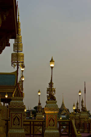 pyre: Sanam-Luang , Bangkok , Thailand, royal funeral pyre Stock Photo