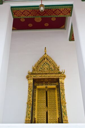 Thai painting arts on  door church are golden door at the temple in Bangkok Thailand Stock Photo - 17846062