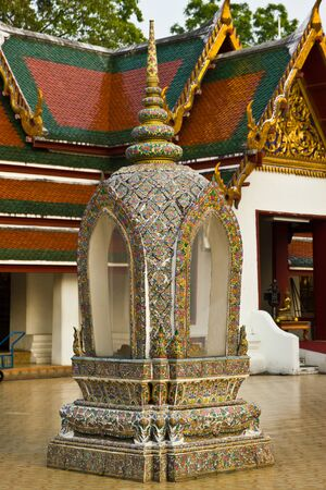 invents: BANGKOK-MARCH 6  Boundary marker of a chruch at Wat Sages   Golden Mount Temple   on March 6, 2013 in Bangkok