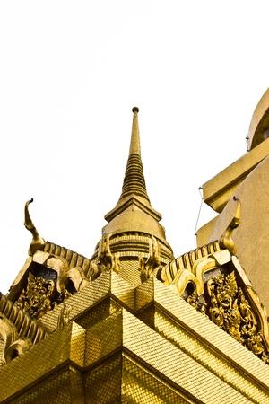 BANGKOK APRIL 17: Thai architecture on white background at Wat Phra kaew on April 17, 2013 in Bangkok. Zdjęcie Seryjne