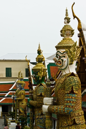 invents: BANGKOK APRIL 17: Thai style giant at Wat Phra kaew on April 17, 2013 in Bangkok.