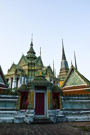 BANGKOK APRIL 18: Thai architecture and the temple at Wat Pho on April 18, 2013 in Bangkok.