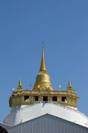 BANGKOK MAY 8  Golden pagoda call that Gold Mountain at Sages temple on May 8,2013 in Bangkok  Zdjęcie Seryjne