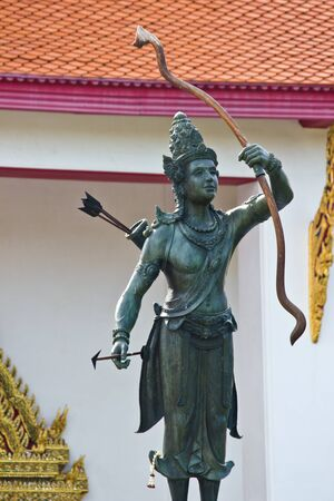 BANGKOK MAY 8  Metal statue name is Rama of Hinduism at National museum on May 8,2013 in Bangkok  Zdjęcie Seryjne