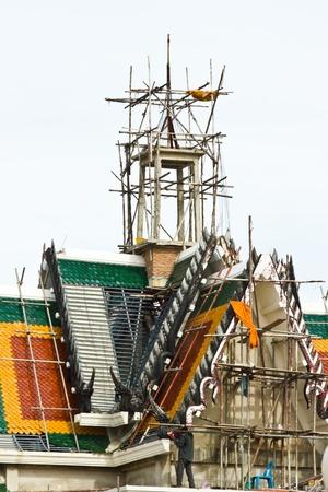 BANGKOK MAY 11  Construction church work  at Laksi temple on May 11,2013 in Bangkok