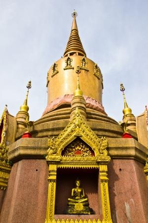 BANGKOK MAY 11  Pagoda Thai-Mon arts  Mon are minority of the Myanmar in former times  at Laksi temple on May 11,2013 in Bangkok