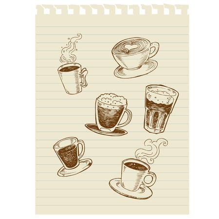 coffee sketch art Illustration