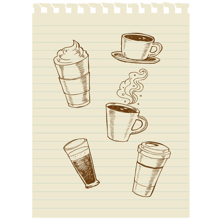 coffee sketch art Vector