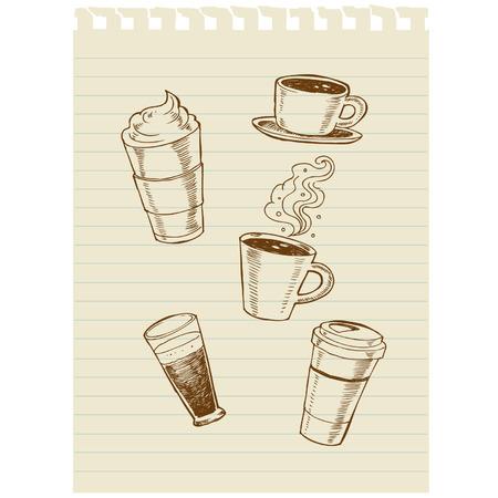 coffeecup: coffee sketch art Illustration