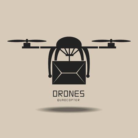 drones delivery ,logo vector