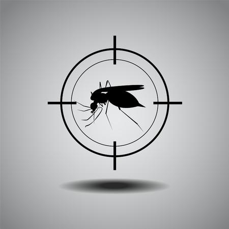 stop mosquito , flat icon design Illustration