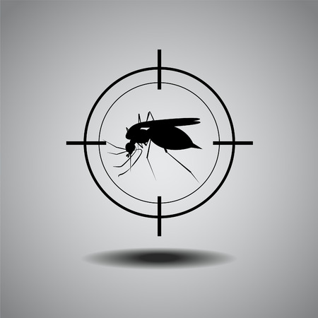 pupa: stop mosquito , flat icon design Illustration