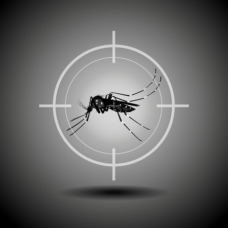 kill: kill mosquito , flat icon design