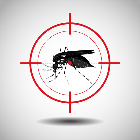 kill mosquito , flat icon design