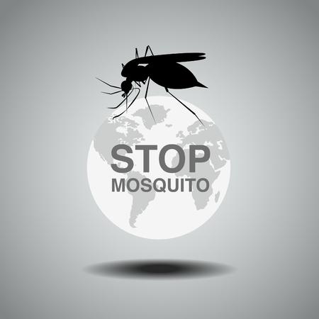 no mosquito: mosquito , flat icon design