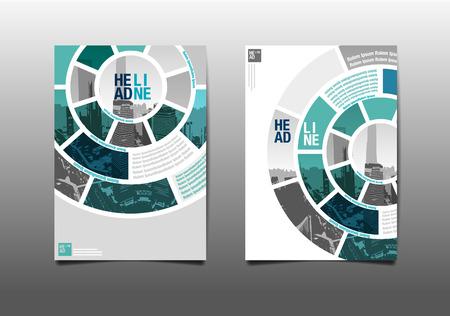 年次報告書パンフレット チラシ デザイン テンプレート ベクトル、リーフレット カバー プレゼンテーション抽象的フラット背景