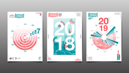 annual report 2017,2018,2019,future, business, template layout design, cover book. vector illustration,presentation abstract flat background. Vectores