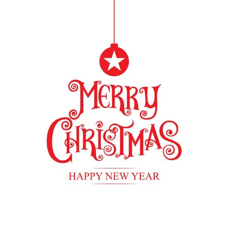 caligraphy: merry christmas& happy new year 2017, type,merry christmas& happy new year 2017, type,calligraphy.Icon, logo