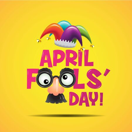 idiot box: April fools day, Typography, Colorful, vector illustration.