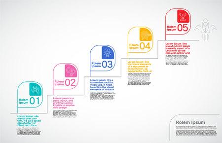 Milestone Company, Infographic Vector. Illusztráció