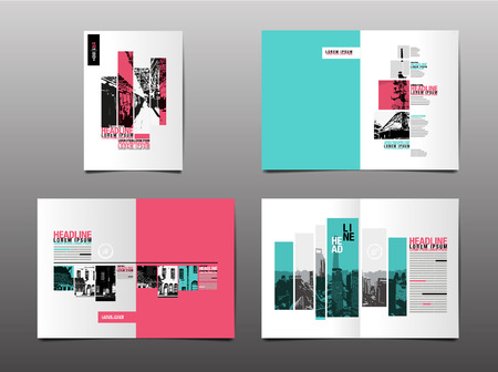 Annual report ,template layout design, cover book. vector Vectores