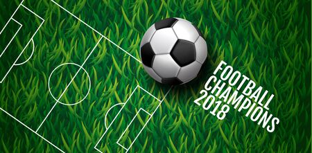 A soccer championship cup background , football, Russia 2018