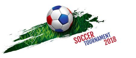 Turniej piłki nożnej, piłka nożna, puchar, szablon tła, ilustracji wektorowych.
