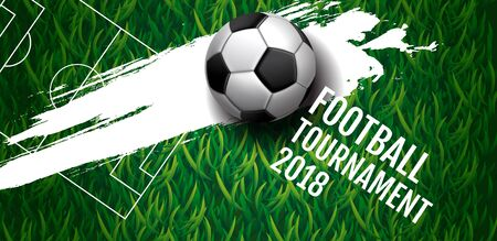 Football tournament, Soccer, cup, Design Background Template, Vector Illustration. Vectores