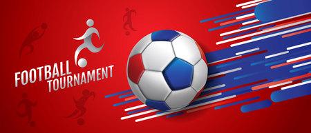 Modèle d'arrière-plan de conception de tournoi de football