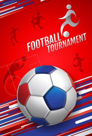 football, soccer, poster, banner template, vector illustration.