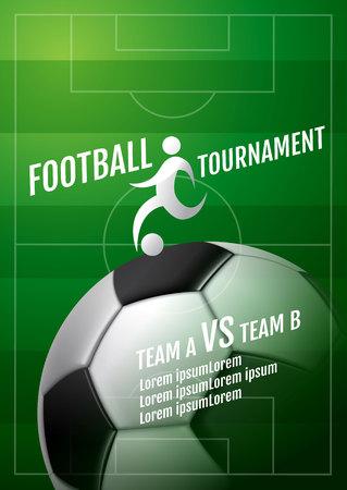 Template Sport Layout Design, Flat Design, Graphic Illustration, Football, Soccer, Vector Illustration. 向量圖像