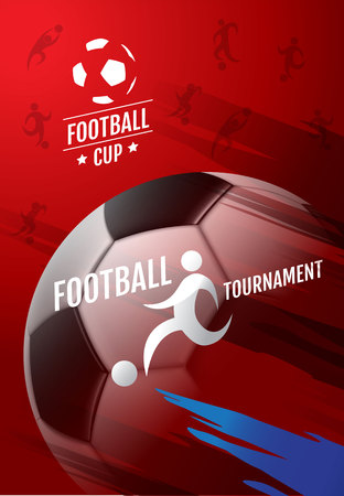 Template Sport Layout Design, Flat Design, Graphic Illustration, Football, Soccer, Vector Illustration. Illustration