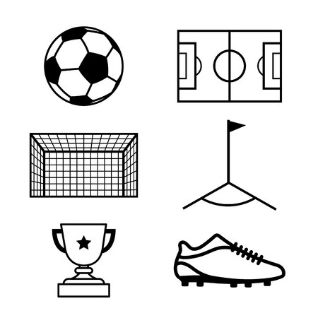 Set of football icons.