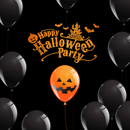 Happy Halloween Party template illustration. Ilustrace