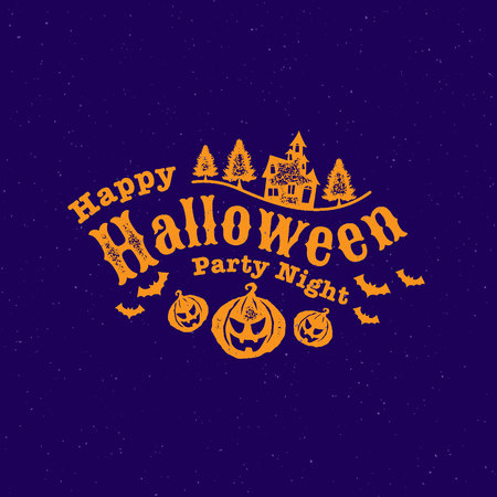 Happy Halloween Party , calligraphy, Ghost , Scary ,spooky  template illustration. Ilustrace