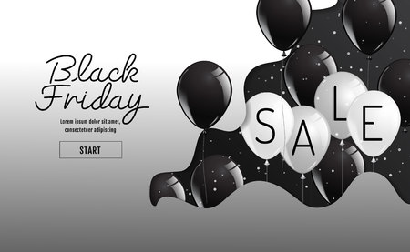Black Friday vector , organic style,balloon, banner sale, discounts, vector illustration.