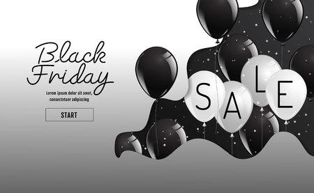 Black Friday vector , organic style,balloon, banner sale, discounts, vector illustration.