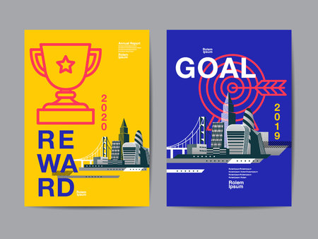annual report 2029 ,future, business, template layout design, cover book. vector illustration,presentation abstract flat background. Illustration