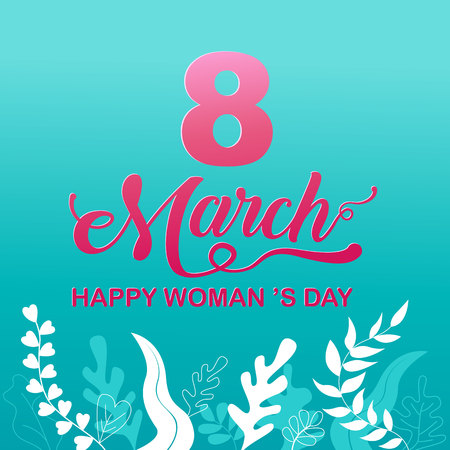 Happy Women 's Day holiday , 8 March, girl head silhouette cutout ,flower backgrond.  banner , greeting card, poster, vector illustration. Reklamní fotografie - 113771845