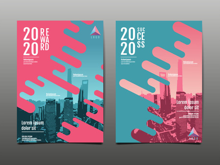 annual report 2020 ,future, business, template layout design, cover book. vector illustration,presentation abstract flat background. Illustration