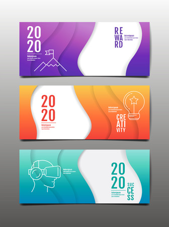 template banner design, 2020,2021 ,future, business, , cover book. vector illustration, presentation abstract flat background. Standard-Bild - 117108249