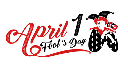 1, April fools day, Typography, Colorful, vector illustration.