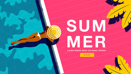 Summer Holiday, Poster , Banner, Vector Illusration